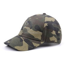 6 panel custom curved brim camo baseball cap/camouflage hat