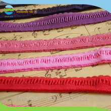 Fashion design beautiful double nylon elastic lace foldover elastic tape for thermal underwear clothing
