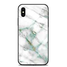 Best Selling Marble Printing IMD Tempered Glass Phone Case for Apple iPhone X , For iPhone X Custom Case Cover