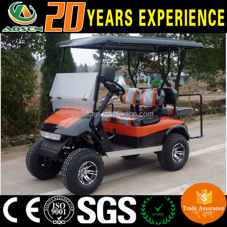 2+2 seats golf car with gasoline engine 250cc water cooler