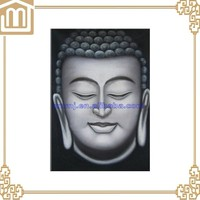 Thai buddha portrait abstract painting
