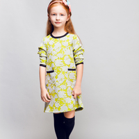 STOCK available! COOL KID ZONE autumn casual Pullovers scuba dress long sleeve girl dress
