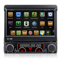 Winmark 7 Inch 1 Din Car DVD Player Stereo Retractable Touch Screen Android 4.4 Wifi EX-3G GPS Bluetooth EX-TV Universal DR7091