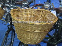 different color wicker straw bicycle front basket pruduct for sale