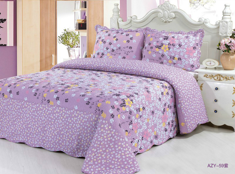 Patchwork Quilt AZY59 Purple , 59Red