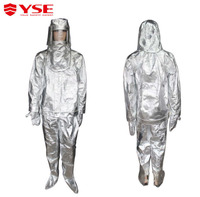 Aluminum foil composit fabric material Aluminized fire suit