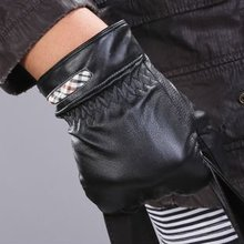 Men's leather gloves sheep skin driving gloves