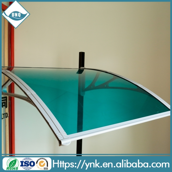Black and White color 3mm pc solid sheet window outdoor canopy/polycarbonate awning