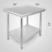 60*90*80 Stainless Steel Commercial Kitchen Work Food Prep Table 2x3FT