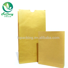 Food Packaging brown kraft paper grocery bags without handle
