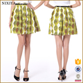 2016 latest fashion short skirt women casual print a line skater skirt