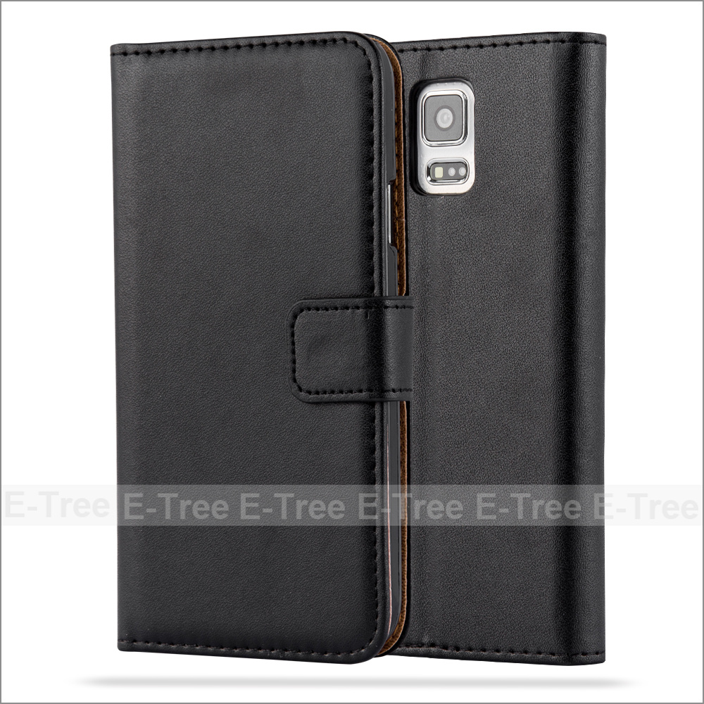 Wholesale PU Leather Wallet Phone Case With Card Slots For Galaxy S5, Flip Cover For Samsung Galaxy S5