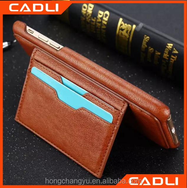 Hot Genuine flip leather cell phone case for iPhone 6 plus