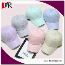 high quality and popular unisex blank suede leather baseball cap for summer