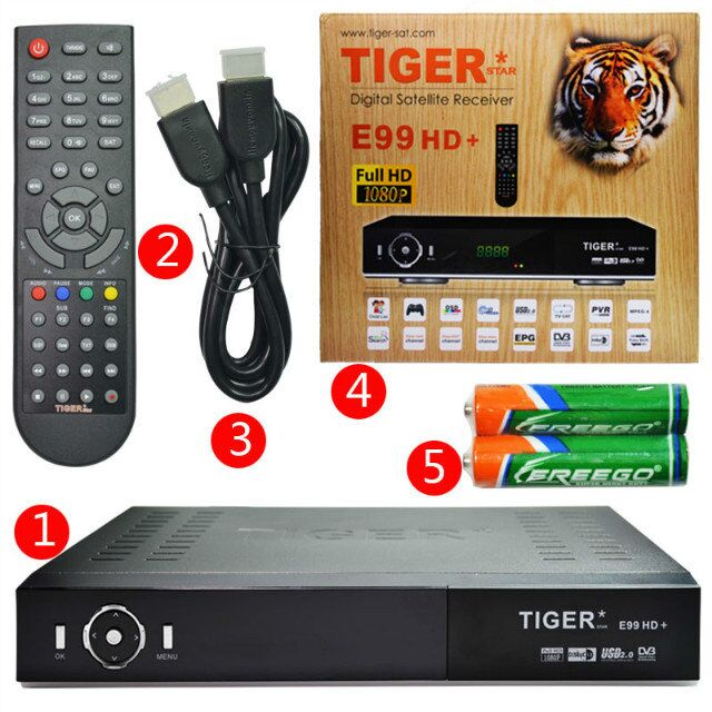 Tiger E99HD+ hot sex moives iks free account receiver with wifi and POWERVU