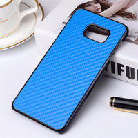 Blue Color Carbon Fiber Cell Phone Case for samsung galaxy note 5