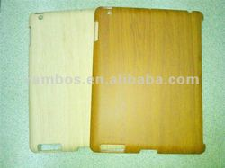 Environmental Wood grain sticking hard case for ipad 2 3