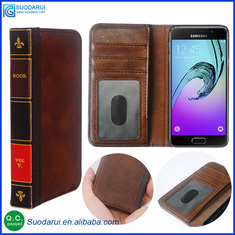 Retro 12 Bible Vintage Book Business Folio Leather Phone Case cover for Samsung Galaxy A5 2017' Flip Wallet Pouch