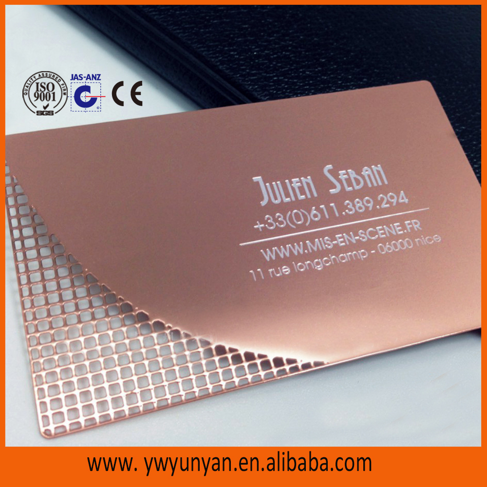 Gold Stainless Steel Metal Business Cards metal Visiting