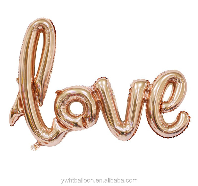 [HOT ] 108X64CM foil balloon Wedding Decoration Wholesale