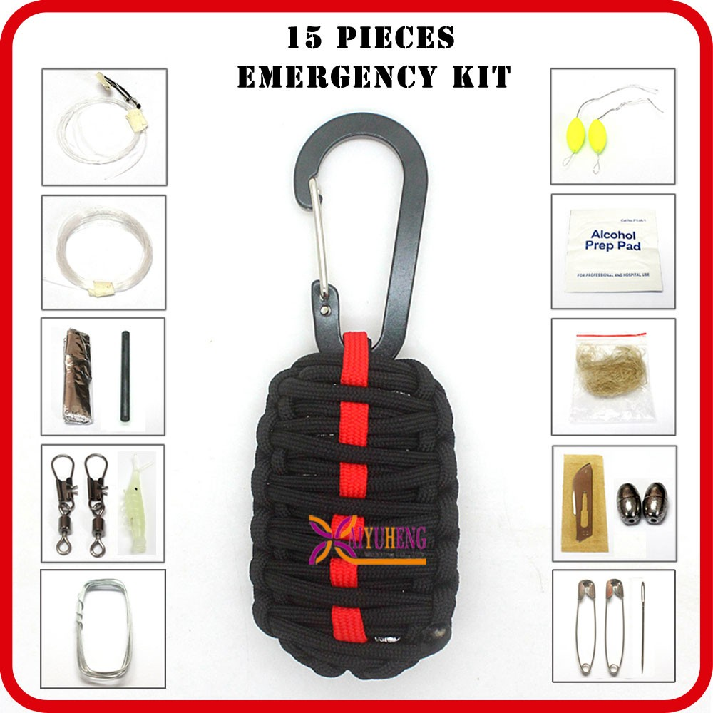 wholesale 72 hour survival kit custom paracord 550 camping equipment