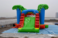Jungle themed commercial inflatable bouncer combo, inflatable mini combo jumper B3093