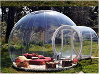 Double Plato PVC Inflatable Party Tent Transparent Bubble Room