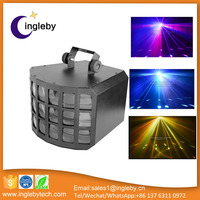 china supplier dj equipment full color led double butterfly effect stage light