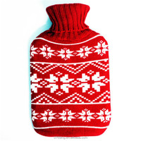 Christmas Pattern Knitting Cover For Warming Hot Water Bottle