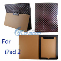 High quality smart cover case, Diamond Style Leather Case Cover For iPad 2