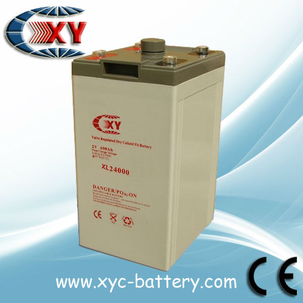VRLA battery 2V 400AH for UPS/Inverter , Lead acid Battery with AGM, Rechargeable Battery