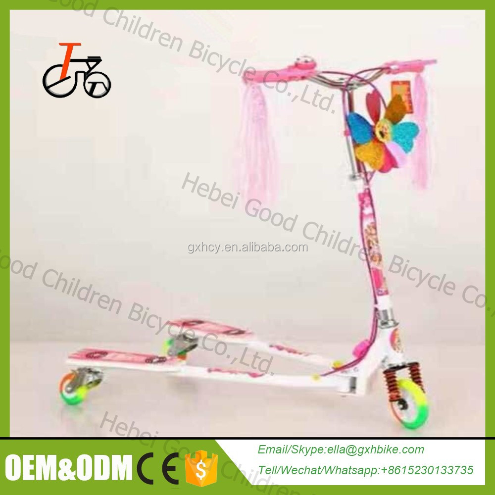 Children kids scooter front basket,scooter for kids,cheap kids plastic mini scooter with pedal foot pedal