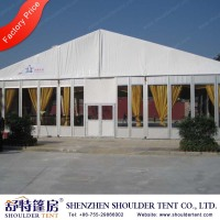 temporary catering structure tent with draping for ceiling and walls