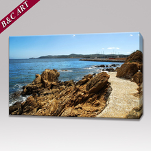 Wall Hanging Art Painting Modern Seaside Scenery Print On Canvas