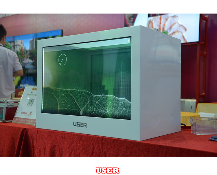 2017 transparent vertical lcd display/digital showcase with our glass lcd display and stretched lcd display ce rohs