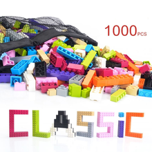 1000 pcs Plastic ABS building enlighten brick toys for kids compatible with building blocks base plate and legos