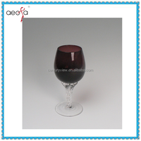 Color Body And Clear Stem Cheap Wine Glasses Wholesale Glass Cup