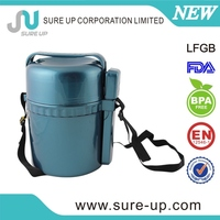 Factory price stainless steel vacuum travel food container with plastic inner box (CSUP)