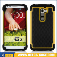 Hybrid combo hard rubber back cover case for lg g2 d802