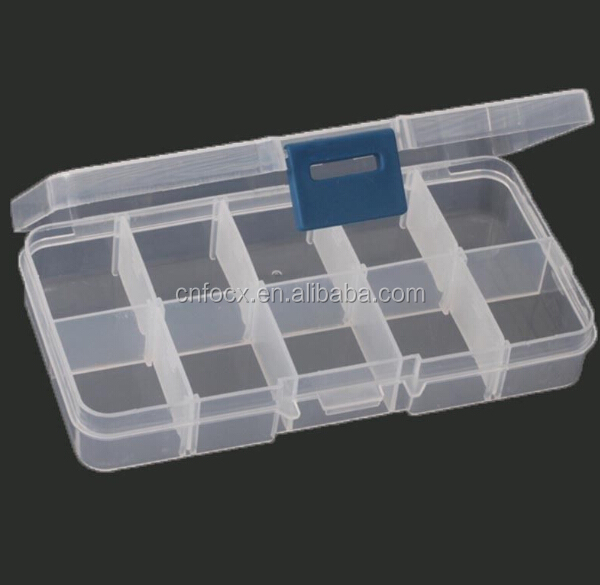 10 Slots Adjustable Jewelry Storage Case / pill case / makeup organizer