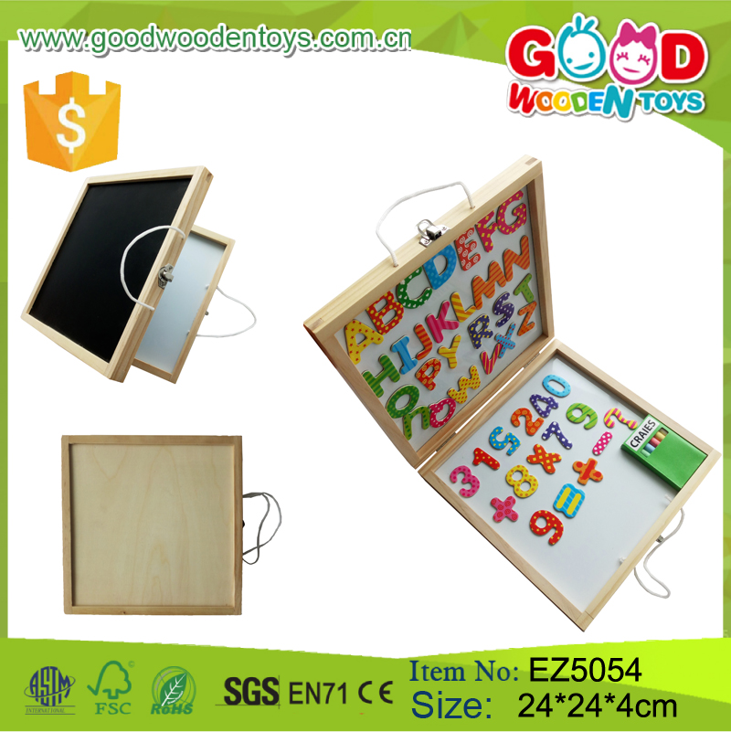 2017 New Design ABC &Number Magnetic Wooden Puzzle Magnetic Wooden Board