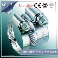 German style brake hose clips/high pressure flexible hose/stainless steel hose clamps