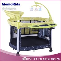 Lovely kids travel cot high quality aluminium folding baby playpen