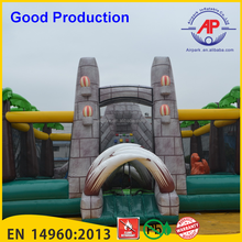 Guangzhou Airpark Jurassic/jungle/dinosaur/airplane giant inflatable amusement park,inflatable fun city,inflatable playground