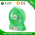 Portable LED Light USB Mini Fan With Li-ion 18650 Rechargeable Battery