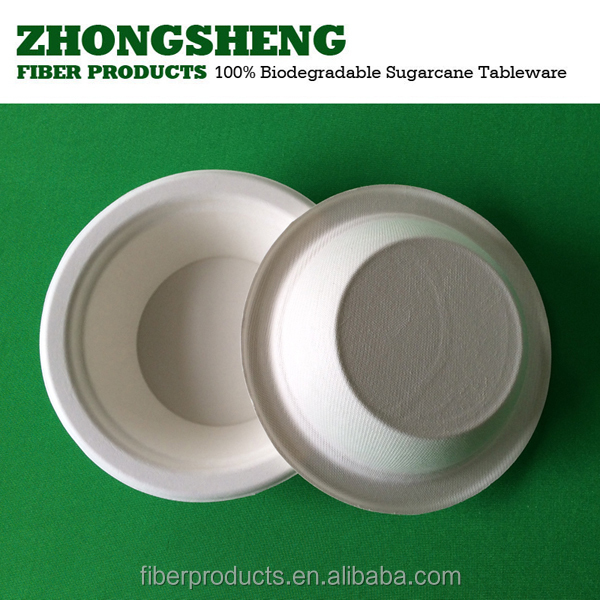 12OZ biodegradable bagasse tableware