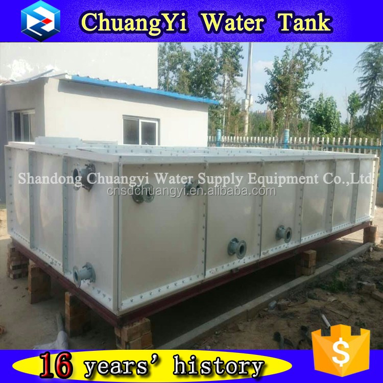 assembled GRP SMC water tank, GRP/FRP water tank container