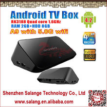 Quad Core A9 Internet android 4.1 mini pc rk3066 Support Audio Output rj45 and SPDIF Port by salange