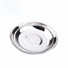 18CM Japanese Style Round Shape Stainless Steel Food Dinner <strong>Plate</strong>