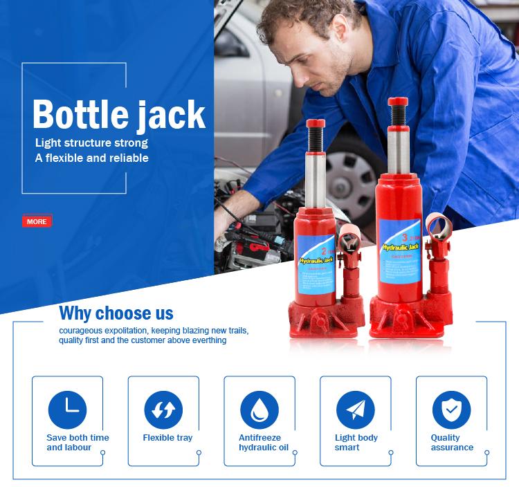 2017 nouveau prix portable ascenseur de voiture bouteille hydraulique jack 2 tonnes
